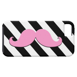 Pink Moustache Black Stripes Case For The iPhone 5