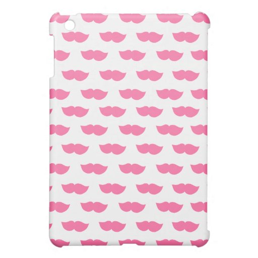 Pink Moustaches Case For The iPad Mini