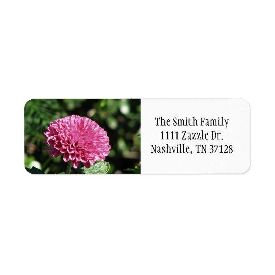 Pink Mum Return Address Label