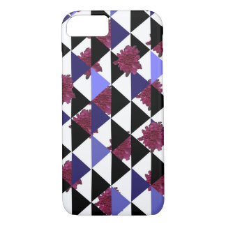 Pink Mums and Triangles by KCS iPhone Case