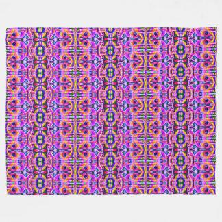 Pink Mushroom Fleece Blanket