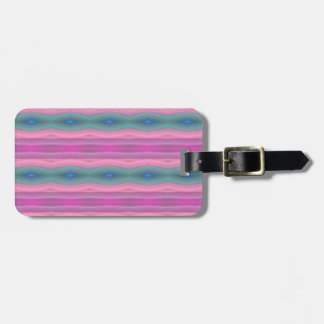 Pink Music Luggage Tag