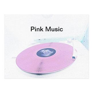 Pink music postcard