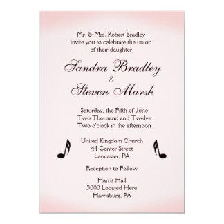 Pink Music Theme Wedding 13 Cm X 18 Cm Invitation Card