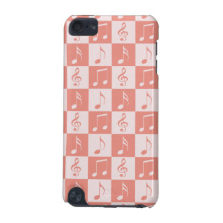 Pink Musical Checker Pattern iPod Touch 5G Cases