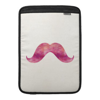 Pink Mustache Tie Dye Watercolor Mustaches Design Sleeve For MacBook Air