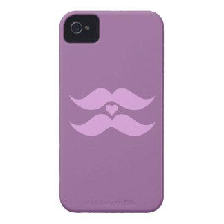 Pink Mustaches custom Blackberry case