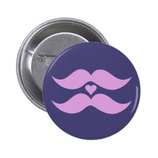 Pink Mustaches custom button
