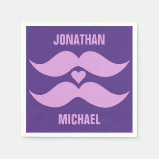 Pink Mustaches custom paper napkins Disposable Serviette