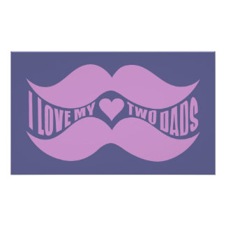 Pink Mustaches custom poster
