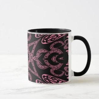 Pink mystery Gothic monogram K Mug