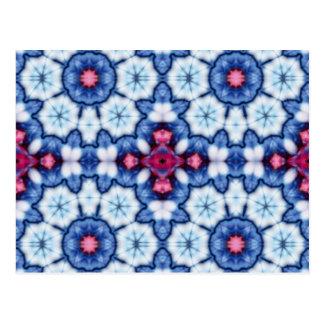 pink n blue kaleidoscope postcard