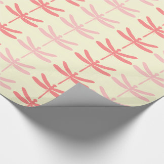 Pink-n-Coral Dragonflies Wrapping Paper