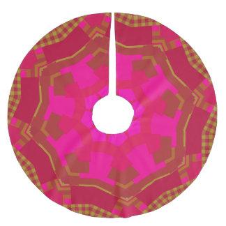 Pink n Gold Gingham Tree Skirt