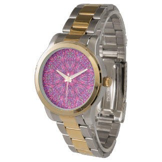 Pink n Purple Colorful  Vintage Womens Watch