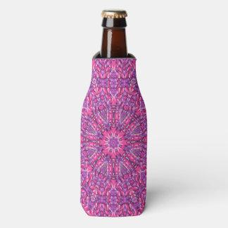 Pink n Purple Kaleidoscope   Bottle Cooler