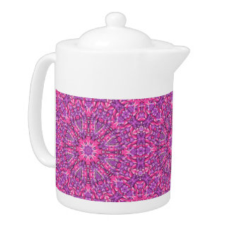 Pink n Purple Kaleidoscope  Pattern  Teapots