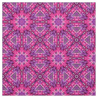 Pink n Purple Two Kaleidoscope  Fabric, 7 styles Fabric