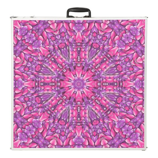 "Pink n Purple  Vintage Kaleidoscope 96"" Pong Table"