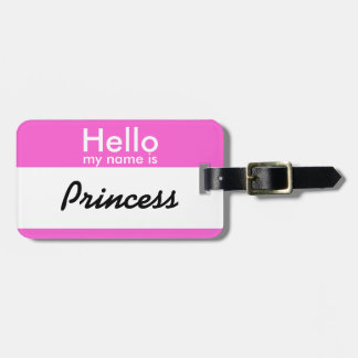 Pink Name Tag Luggage Badge - Personalize it!