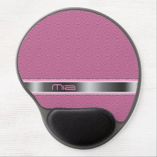 Pink Named Waves Gel Mouse Pad