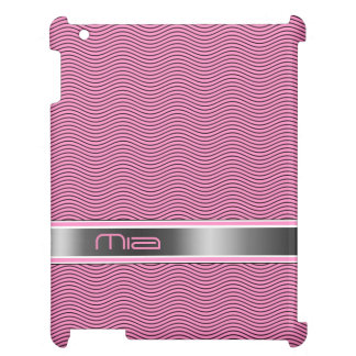 Pink Named Waves iPad Cases