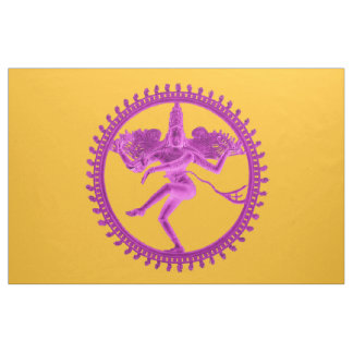 Pink Nataraja on Gold Fabric