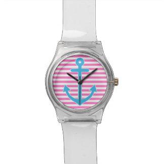 Pink Nautical Anchor Watch