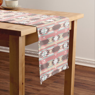 Pink Navajo Native American Pattern Table Runner