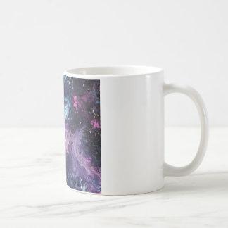 Pink Nebula Basic White Mug