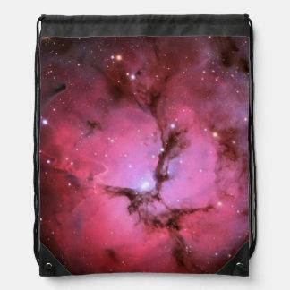 Pink nebula, universe, photo colors, science, drawstring bags