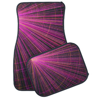 Pink neon light car mat