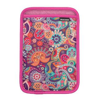 Pink neon Paisley floral pattern iPad Mini Sleeve