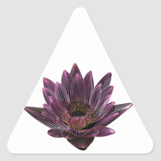 Pink Neon Water Lily Triangle Sticker