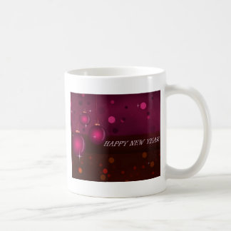 Pink New Year Ornaments Coffee Mugs