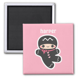 Pink Ninjabread Man Magnet