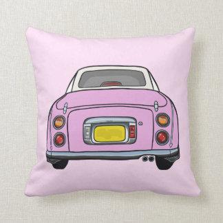 Pink Nissan Figaro pillow cushion