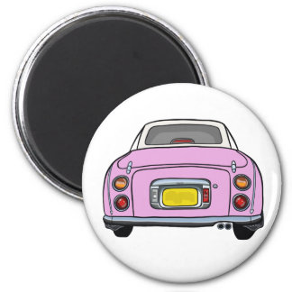 Pink Nissan Figaro Rust Checking Magnet