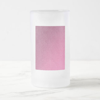 pink noise frosted glass mug