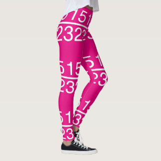 Pink Numbers Fractions Math Fun 4Olivia Leggings