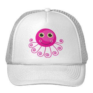 Pink Octopus Cap