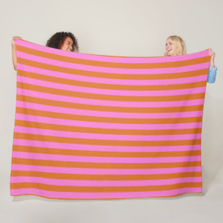 Pink-Old-Gold-Stripes-Surfer-Fleece-Lg Fleece Blanket