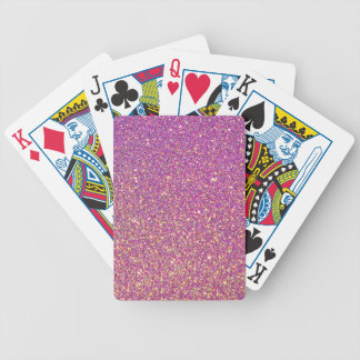 Pink Ombre Glitter Background Bicycle Playing Cards