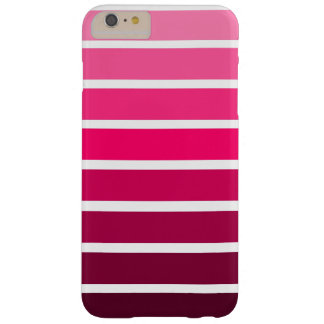 Pink Ombre Gradient Colorful Stripe Barely There iPhone 6 Plus Case