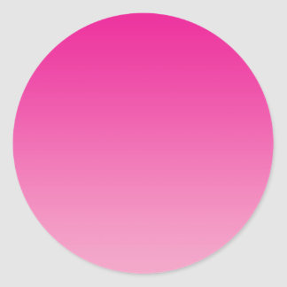 Pink Ombre Round Stickers