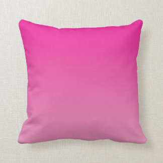 """""""Pink Ombre"""" Throw Pillow"""