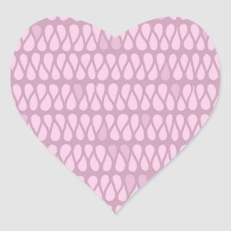 Pink Ombre Twist Heart Stickers