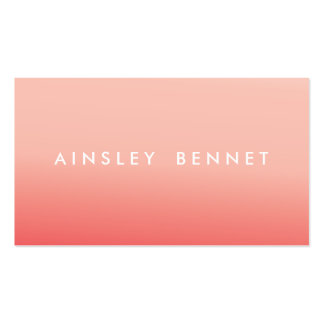 Pink Ombre Watercolor Business Cards
