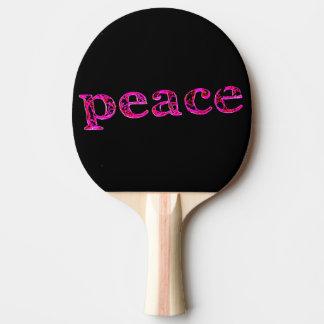 pink on black peace