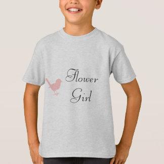 pink on cream bird T-Shirt